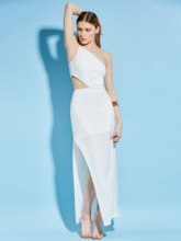 Spaghetti Strap Asymmetric Backless Women's Maxi Dress