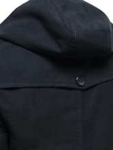 Fashion Design Plain Hooded Pocket Mid-Length Men's Trench Style Outside Wind Coat