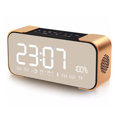 Portable Wireless Bluetooth Speaker HiFi Bass with Display Time/Alarm Clock