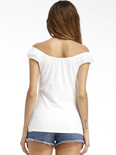 Flower Print Twist Knot Women's T-Shirt