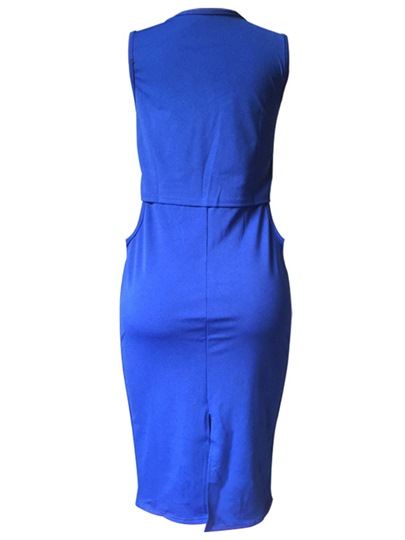 Solid Color Sleeveless Women's Party Dress