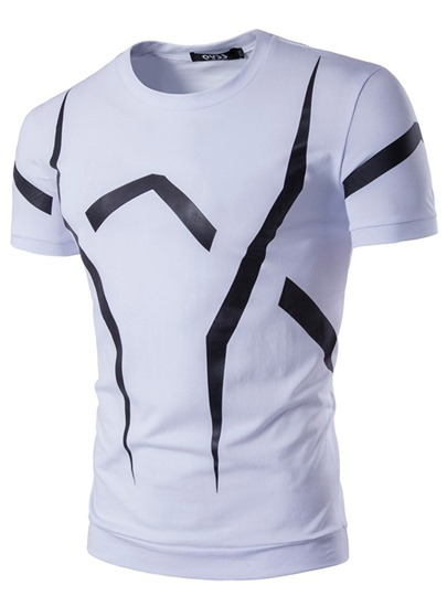 England Style Printed Slim Fit Men's T-Shirt