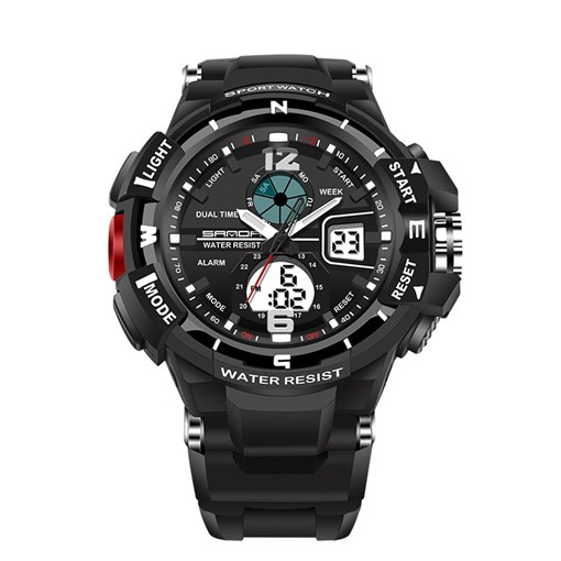 Quartz&Digital Movement Multifunctional Men's Sports Watches