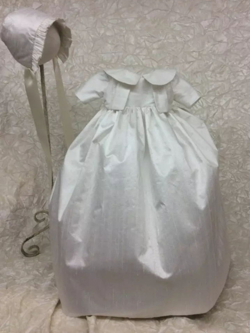 Baby Girls Baptism Adorable Christening Gown with Bonnet
