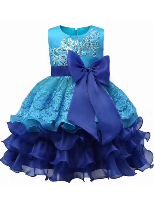 Ball Gown Sequins Appliques Flower Girl Dress