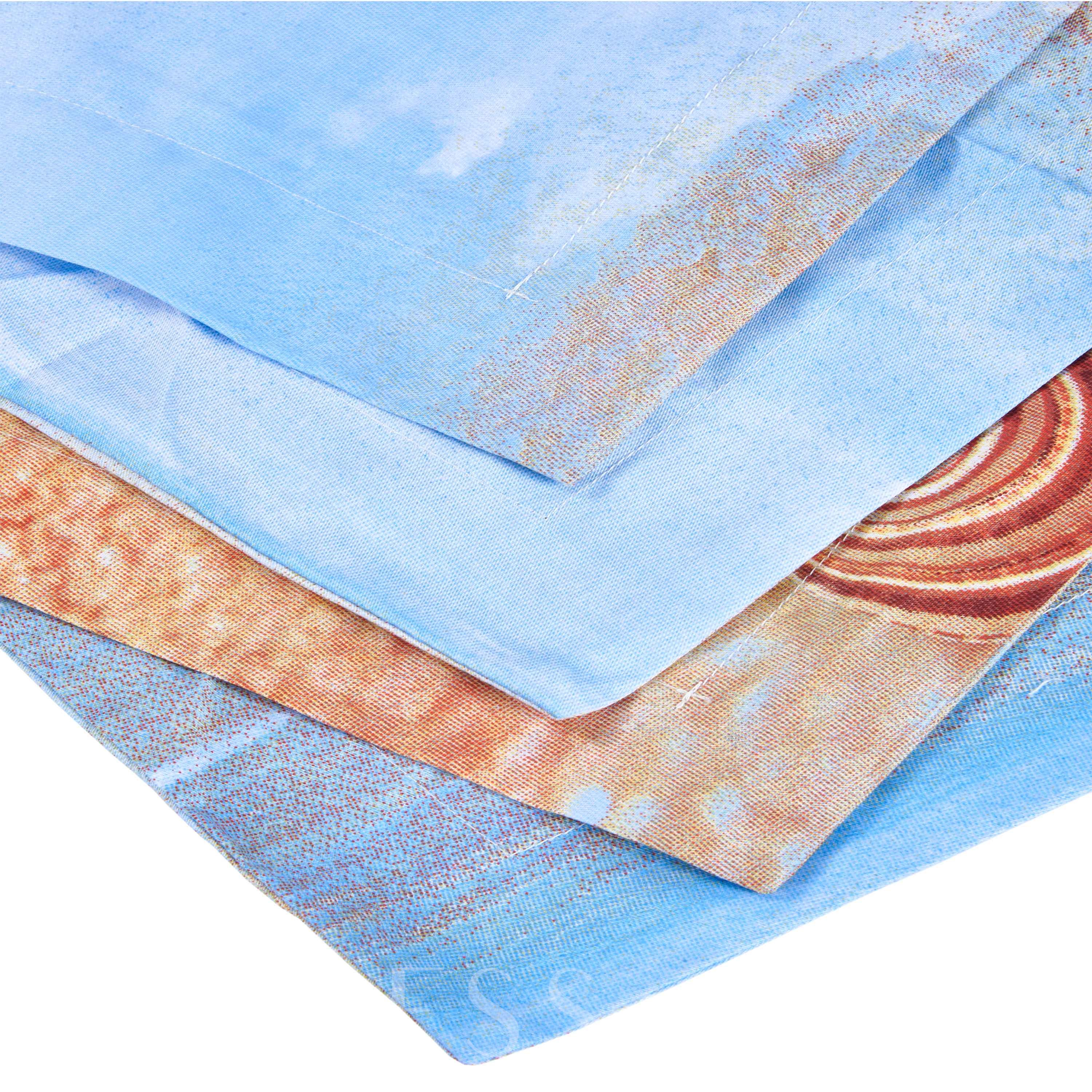 Starfish and Shell 3D Printed Beach Theme Cotton 4-Piece Bedding Sets