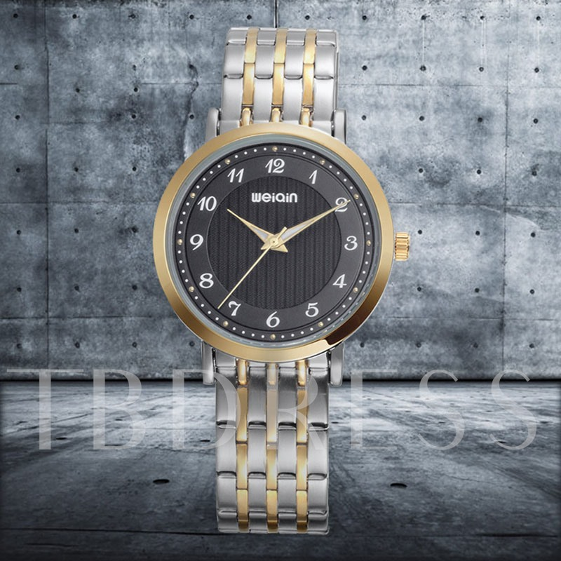 Glass Soild Steel Buckle Water Resistant Men's Watches