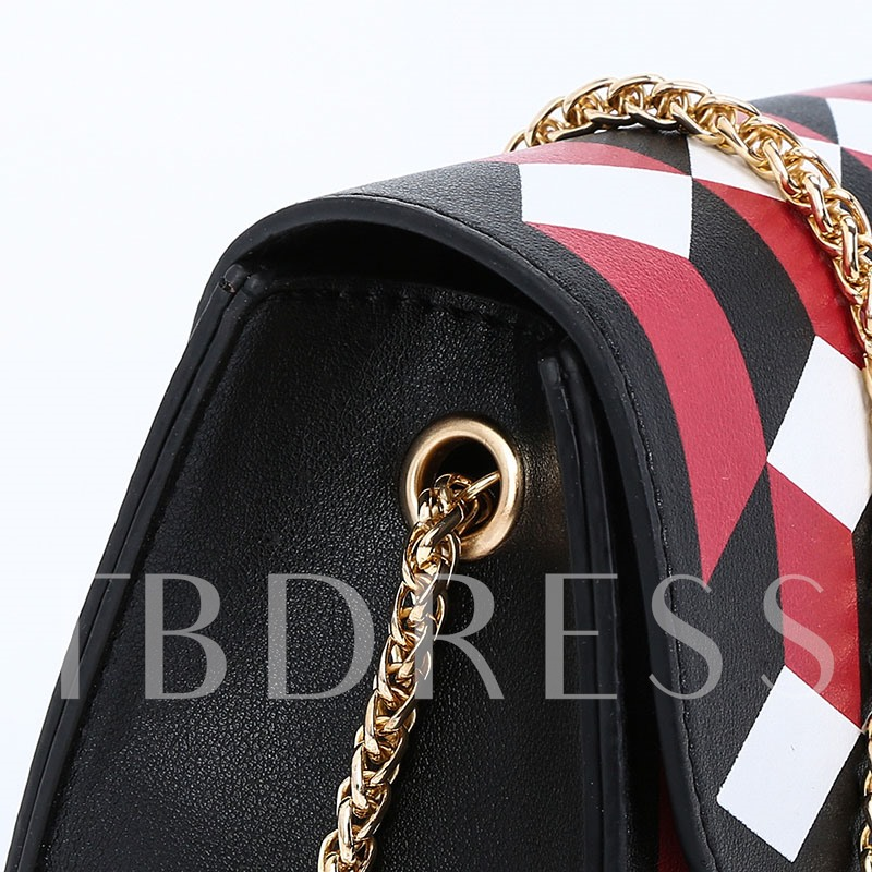 Geometric Synthetic Leather Women Crossbody Bag