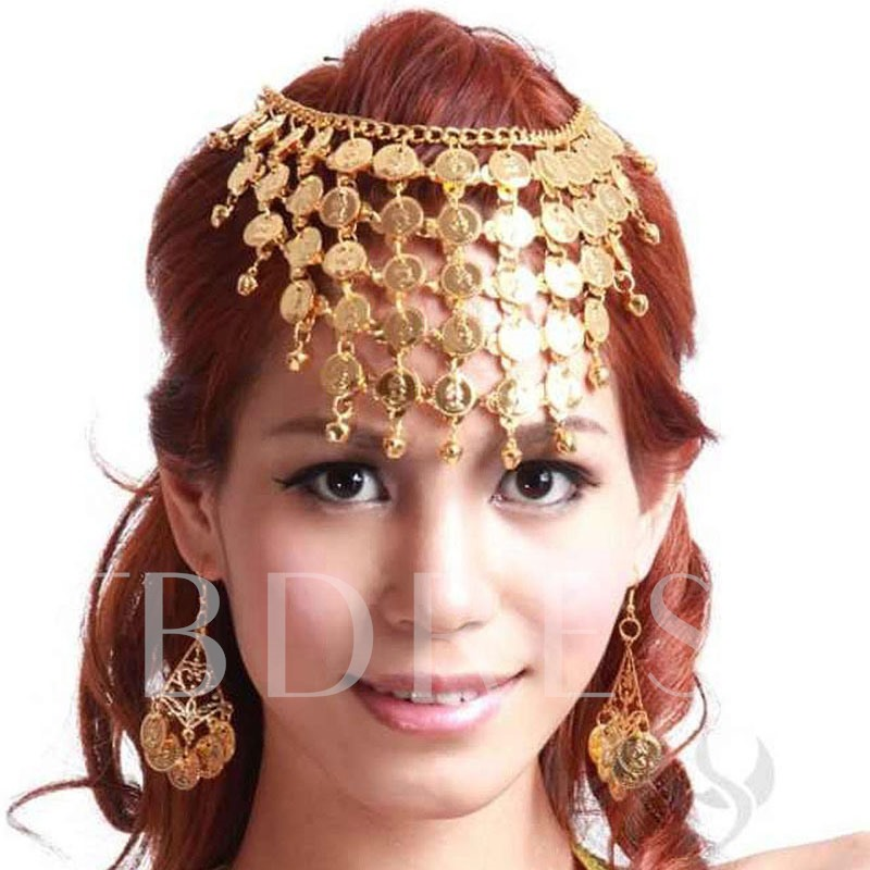 Exaggerated Multilayer Sequins Tassels Jewelry Set