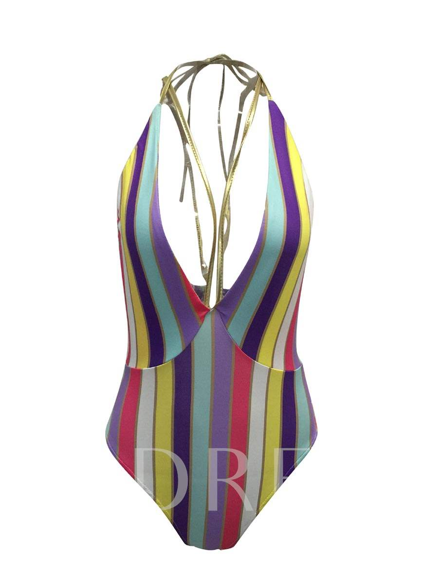 Colorful Stripe Women's One Piece Swimsuit