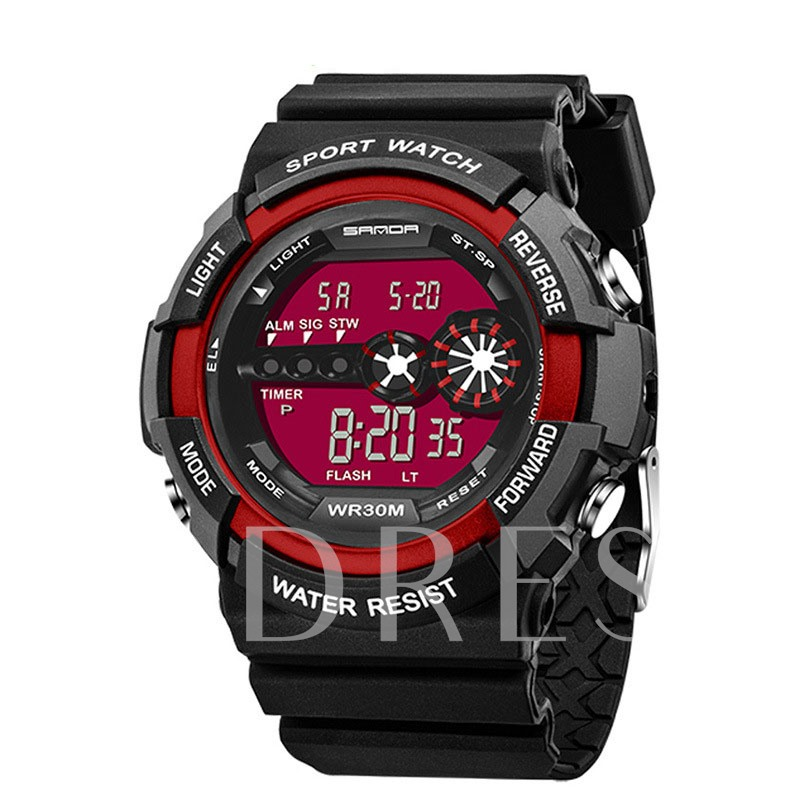 Acrylic Case Multifunctional Digital Men's Watches