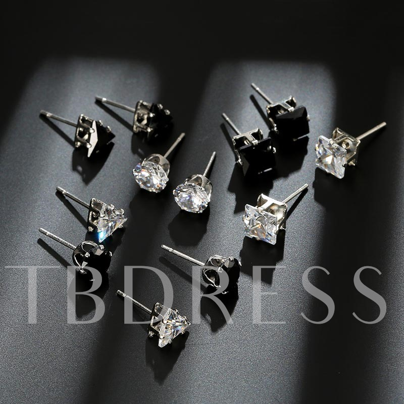 Rhinestone Inlaid Series Stud Earrings