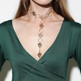Hollow Out Rose Body Chain Necklace