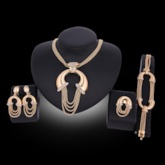 Diamante Link Chain Alloy Jewelry Sets