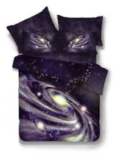 Galaxy Nebula Printed Polyester 4-Piece 3D Bedding Sets/Duvet Covers