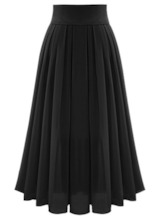 Asymmetric Flowy Pleated Women's Maxi Skirt