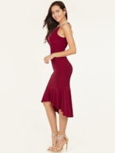 Halter Neck Backless Mermaid Homecoming Dress