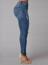 High-Waist Skinny Patchwork Women's Jeans