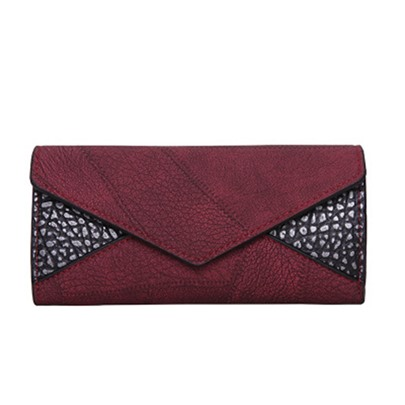 Long Style Color Block Splice Women's Wallet
