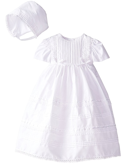 Scoop Baby Girls Christening Gown with Bonnet