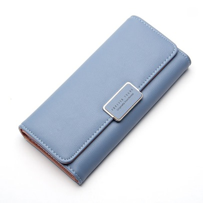 Sweet Style Three Fold PU Women's Wallet