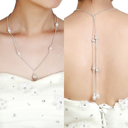 Sweet Pearl Backdrop Necklace