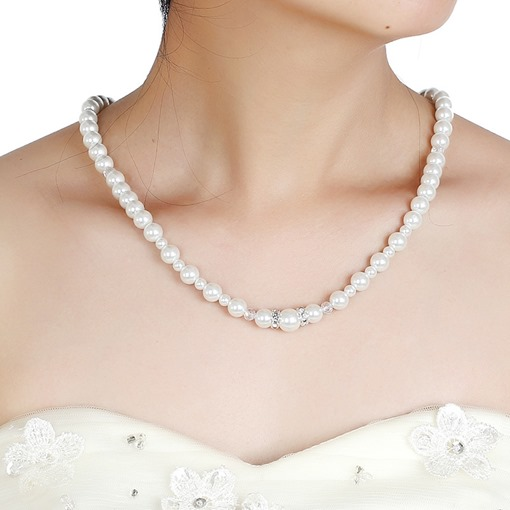 Wedding Pearl Sweet Backdrop Necklaces