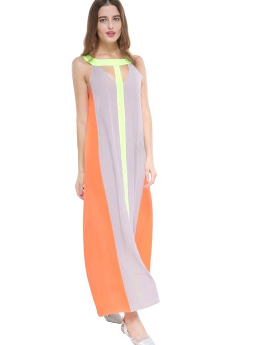 Sleeveless Straight Women's Maxi Dress