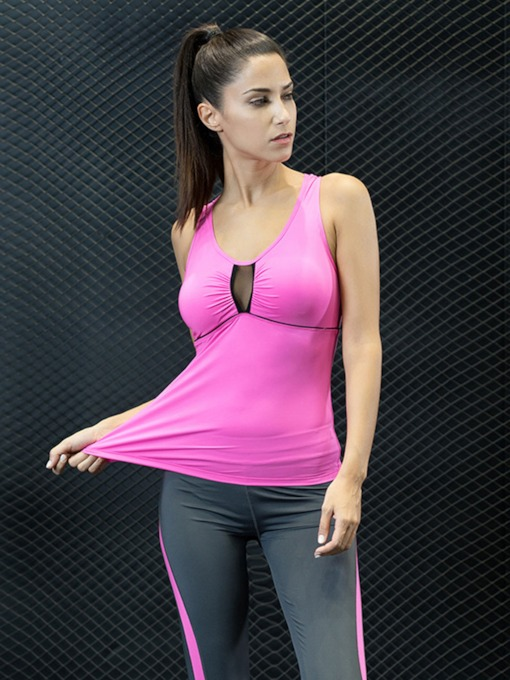 Front Hollow Skinny Women's Yoga Vest