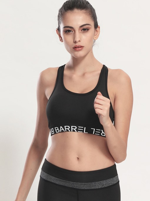Solid Color Strong Braced Women's Sports Bra