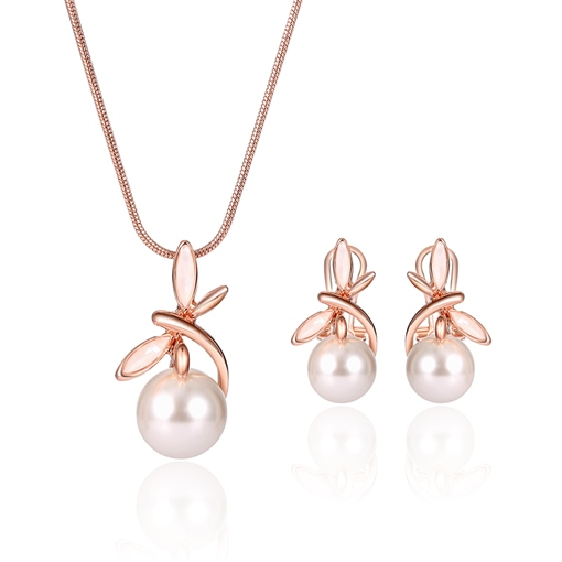 Snake Chain Pearl Butterfly Alloy Jewelry Sets