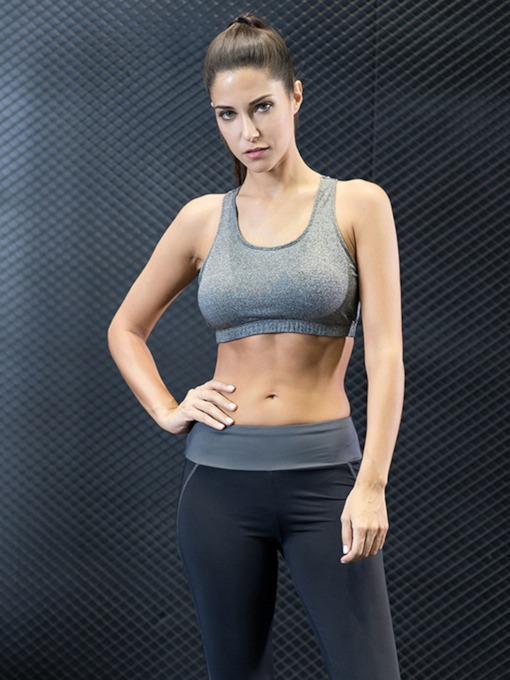 Plain Multi-Color Elastic Women's Sports Bra