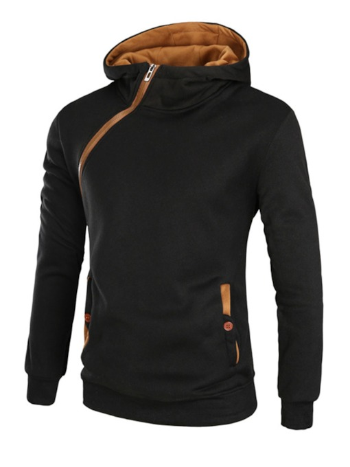 Unique Zipper Thicken Men's Casual Hoodie
