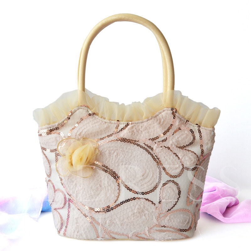 Exquisite Printing Flower Decoration Tote Bag