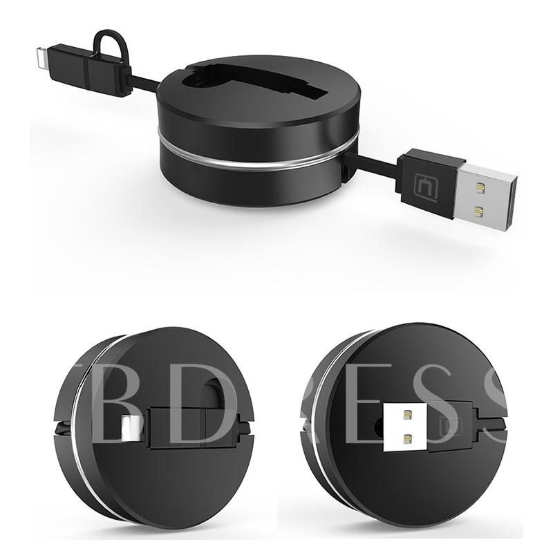 Portable Combo Data Cable Retractable Mobile Android and Apple