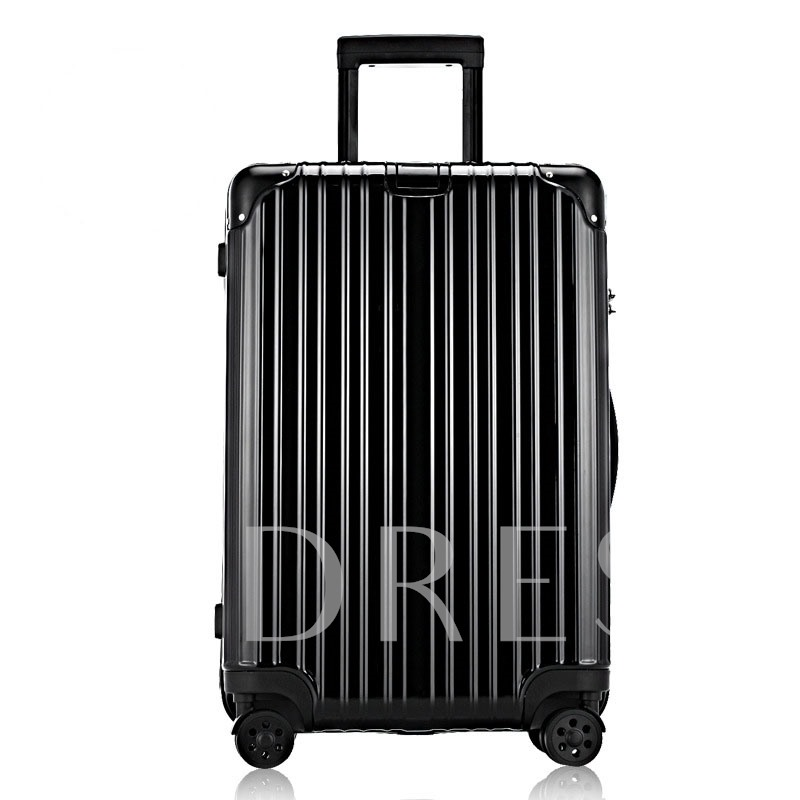 Plain Rolling Luggage Unisex Draw Bar Box
