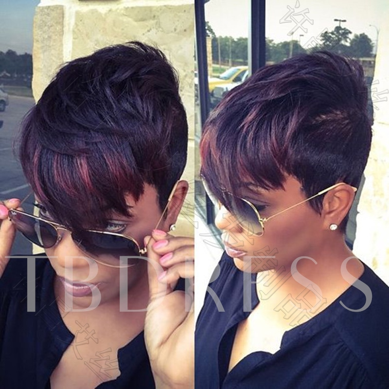 Fashionable Curly Capless Synthetic Hair Wig 8 Inches