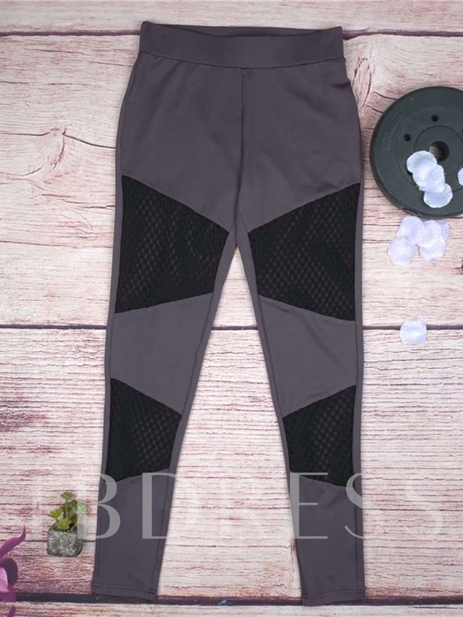 Mesh Patchwork Springy Women's Yoga Leggings