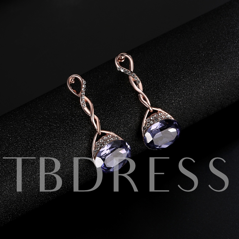 Alloy Twist Arm Ultra Violet Stone Jewelry Sets