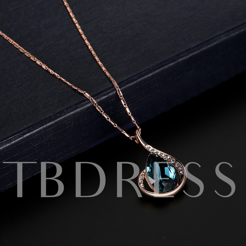 Bamboo Chain Diamante Blue Two Piece Jewelry Sets
