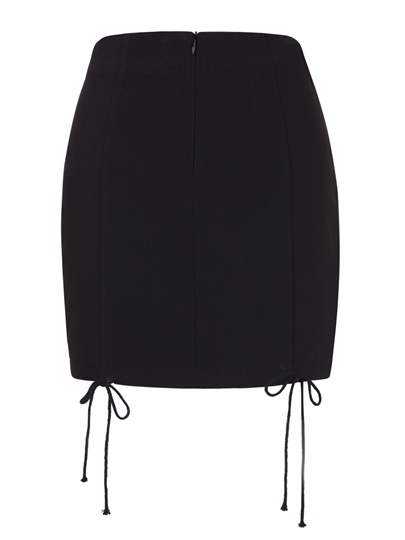 Lace-Up Plain Women's Mini Skirt