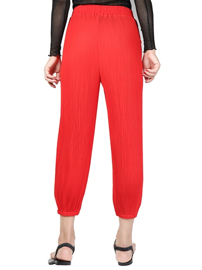 High-Waist Lace-Up Loose Patchwork Women's Knickerbockers