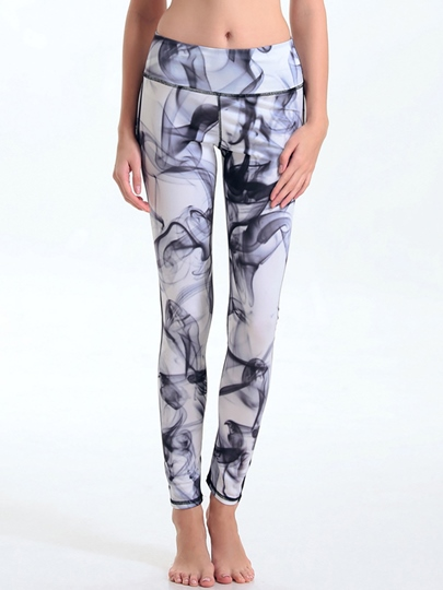 Ink Painting Fast Dry Women's Yoga Leggings