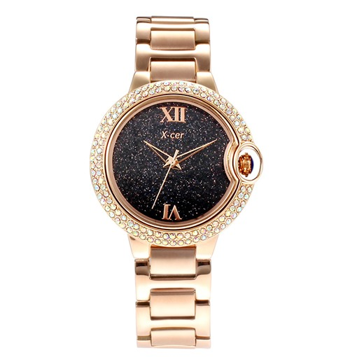 Star Table Diamante Rose Gold Lady Watch