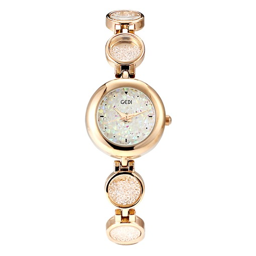 Round Dial Circle Alloy Chain Lady Watch