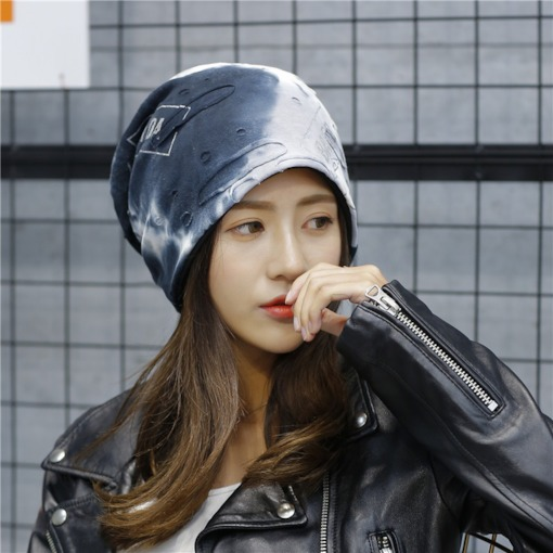 Korean Hole Pleated Color Block Hats