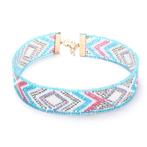 Ethnic Colorful Full Beads Alloy Necklace