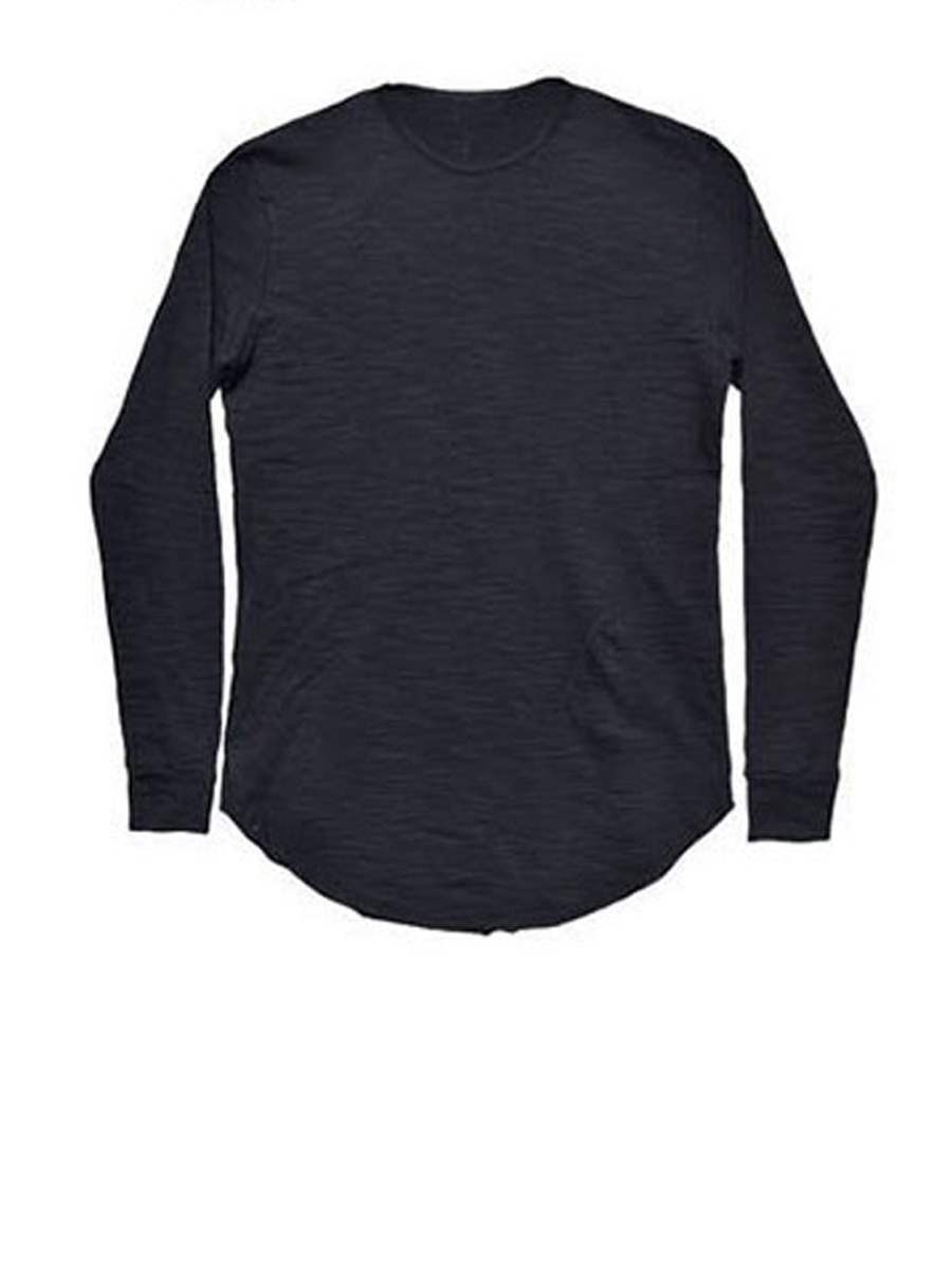 Buy Round Collar Long Pattern Solid Color Plain Men's Long Sleeve T-Shirt, 12937988 for $19.99 in TBDress store