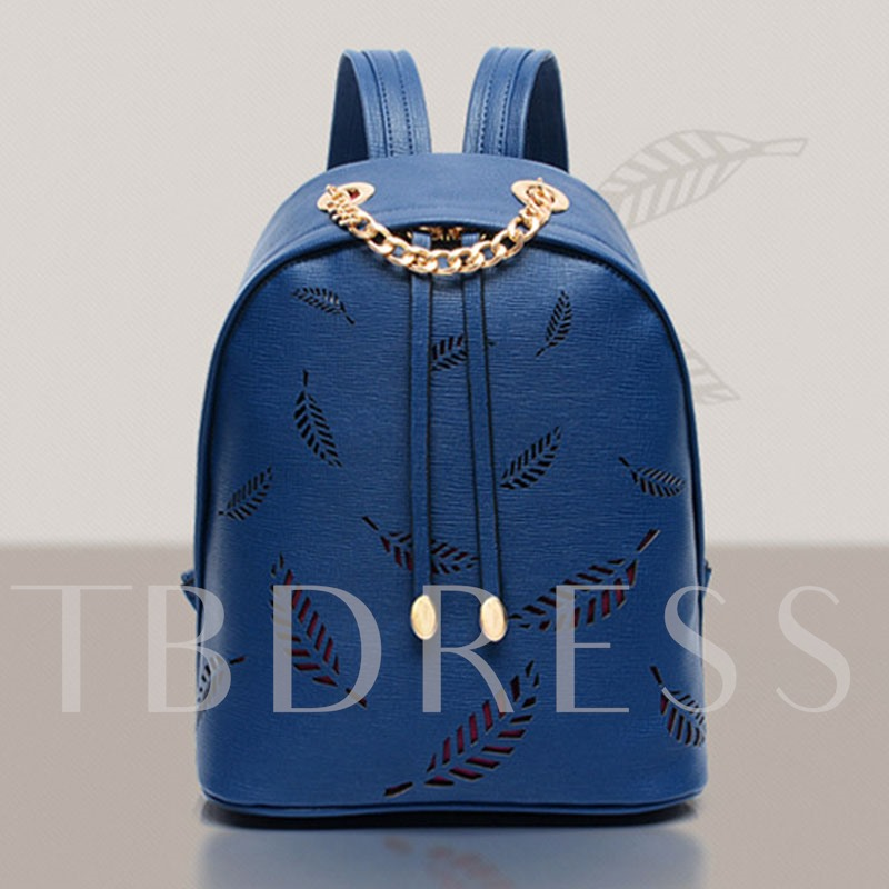 Chic Leaf Type Hollow Out Women Backpack