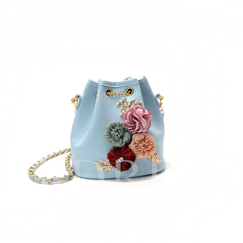 Newest Korean Style Floral Decoration Cross Body